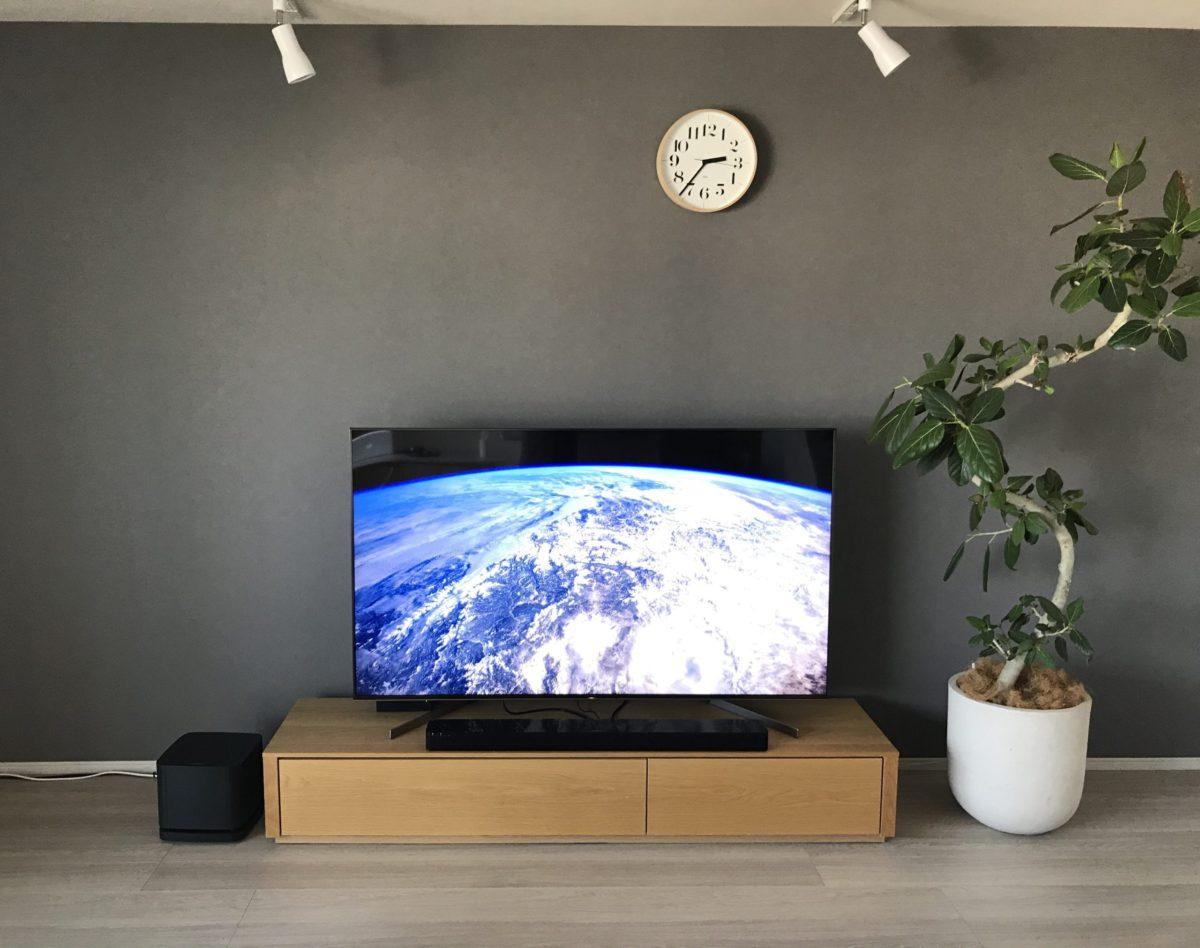 65型テレビ設置